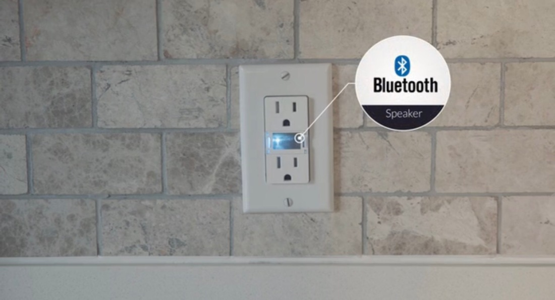 Swidget is a smart outlet that can become a Bluetooth speaker ...